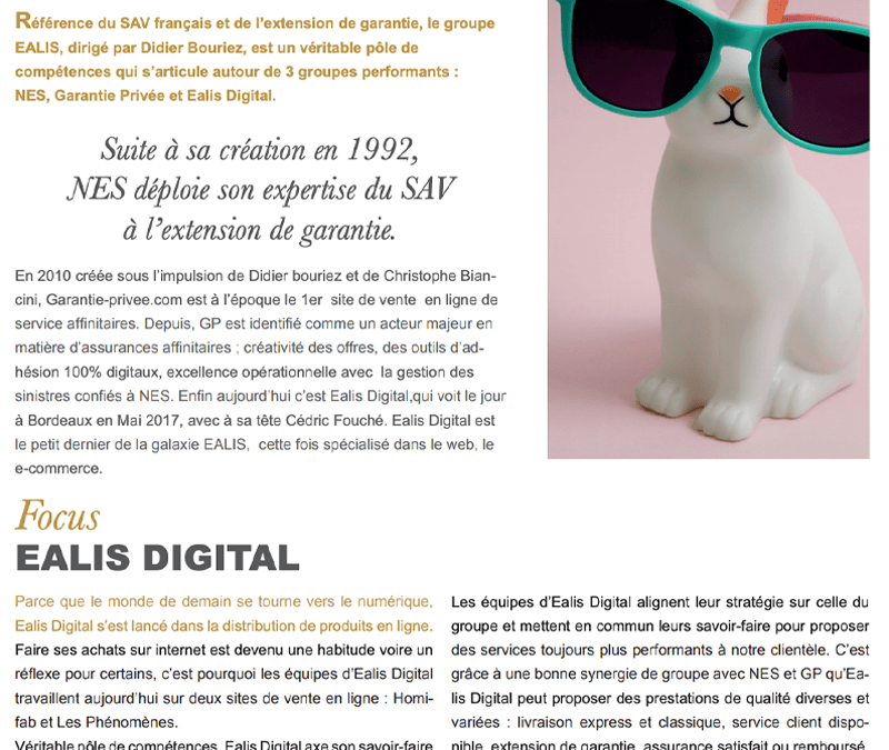 Rédaction du magazine interne Ealis Digital